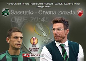 Sassuolo-Stella Rossa video gol highlights Europa League