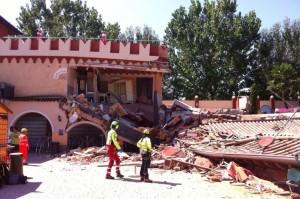 Brescia, crolla struttura a parco acquatico Le Vele FOTO