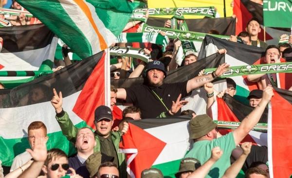 YOUTUBE Celtic, tifosi con bandiere Palestina: in campo squadra israeliana2