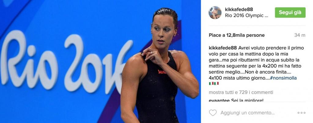Rio 2016, Federica Pellegrini parteciperà alla 4x100 mista
