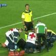 Atalanta-Lazio: Dramé e Stefano Alassio trasportati via in barella