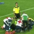 Dramé perde sensi durante Atalanta-Lazio dopo ginocchiata Parolo