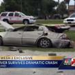 Florida, auto si ribalta quattro volte conducente sopravvive7