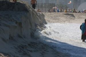 Olimpiadi Rio, allagati studi televisivi spiaggia Copacabana5