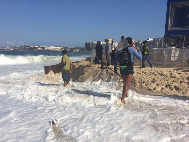 Olimpiadi Rio, allagati studi televisivi spiaggia Copacabana3