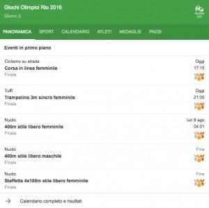 Guarda la versione ingrandita di Rio 2016, italiani in gara 7 agosto. Streaming-diretta tv, dove vedere Olimpiadi