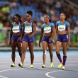 Rio 2016, 4x100 donne: ad Allyson Felix cade testimone2