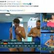 Rio 2016, tuffatori e l'illusione ottica delle scritte in tv