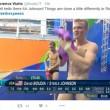 Rio 2016, tuffatori e l'illusione ottica delle scritte in tv9