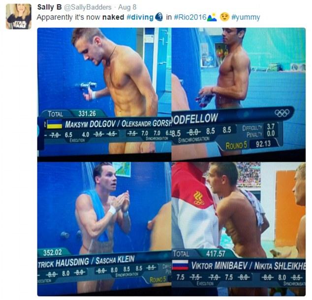 Rio 2016, tuffatori e l'illusione ottica delle scritte in tv2