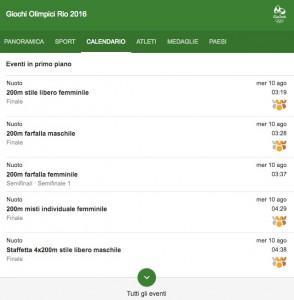 Rio 2016: italiani in gara martedì 10 agosto. Streaming-diretta tv: dove vedere Olimpiadi