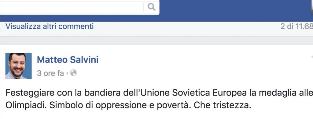 Rio 2016, Matteo Salvini attacca Elisa Di Francisca FOTO