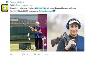 Guarda la versione ingrandita di Rio 2016, Diana Bacosi - Chiara Cainero: doppietta Italia nello skeet