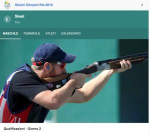 Rio 2016, skeet. Spareggio ok, Gabriele Rossetti in finale
