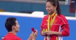 Rio 2016, He Zi: medaglia argento e proposta di matrimonio VIDEO