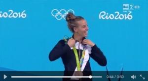 Guarda la versione ingrandita di Rio 2016, Tania Cagnotto medaglia bronzo: la premiazione