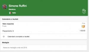 Rio 2016, 10 km fondo: Ruffini 6°. Oro a olandese Weertman