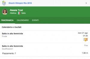 Rio 2016, Alessia Trost e Desirée Rossit in finale nel salto in alto