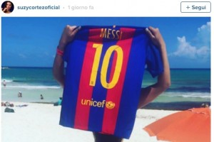 "Guarda la versione ingrandita di Suzy Cortez, Miss Bum Bum: ""Messi sbloccami su Instagram"""