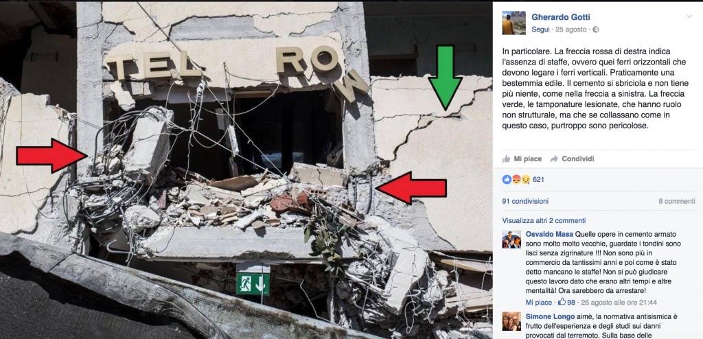 """Terremoto, Gherardo Gotti ingegnere, su Fb: """"Ecco i lavori sospetti"""" FOTO 9"""