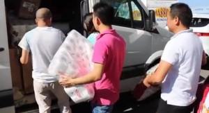 Terremoto Amatrice, cinesi da Prato con furgoni carichi di viveri
