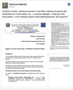"""Terremoto, preside Daniela Turci: """"Studenti, donate"""". Ma l'iban è del Pd"""