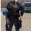 Genova, insulti su un muro al poliziotto morto d'infarto a Ventimiglia 02