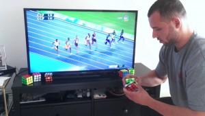 Usain Bolt contro cubo di Rubik: chi vince6