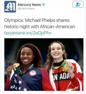 """Rio 2016: Simone Manuel, giornale Usa omette nome e scrive: """"Afroamericana"""""""
