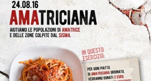 Amatriciana: 2 euro ai terremotati per ogni piatto. Iniziativa Facebook