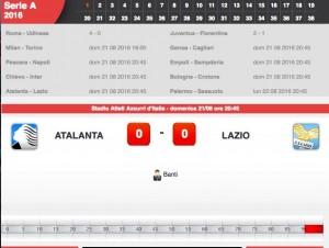 Atalanta-Lazio diretta live. Formazioni ufficiali-video gol highlights