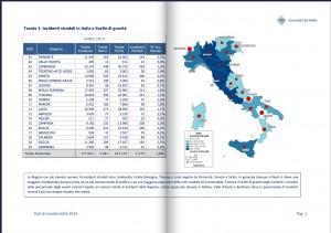 Guarda la versione ingrandita di La mappa dell'Aci con gli incidenti stradali nelle varie regioni d'Italia