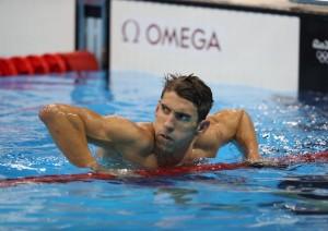Guarda la versione ingrandita di Phelps nella foto Ansa