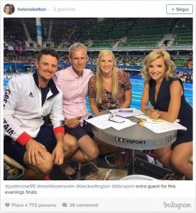Guarda la versione ingrandita di Rio 2016, Helen Skelton: cosce presentatrice Bbc impazzano su Twitter FOTO