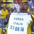 """Terremoto, Boateng mostra maglia """"Forza Italia"""": rischia multa"""