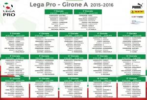 Guarda la versione ingrandita di Lega Pro girone A, campionato 2015-16: classifica finale e risultati