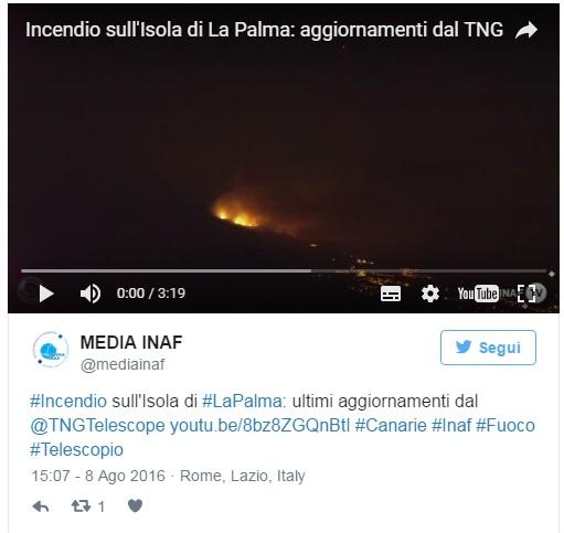 Canarie in fiamme: bruciato isola La Palma 2