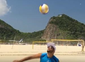 Guarda la versione ingrandita di YOUTUBE Rio 2016, Adrian Carambula fa impazzire tutti con la skyball