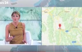 """YOUTUBE Terremoto, Carlotta Macerollo in diretta a Rai News: """"Trema tutto"""""""