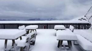 Neve sopra Cortina. Ma il meteo di Ferragosto dice... FOTO