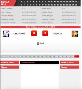 Crotone-Genoa diretta. Formazioni ufficiali - video gol highlights