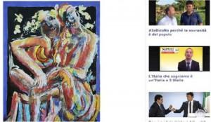 Guarda la versione ingrandita di Dario Fo, quadro sulle cosce di Maria Elena Boschi (foto Ansa)