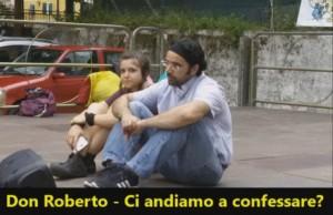 """""""Andiamo a confessare"""", Don Roberto Fiscer riscrive il tormentone VIDEO"""