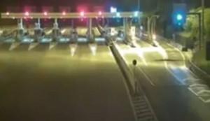 Terremoto, telecamere A24 e A25 hanno ripreso la prima scossa VIDEO