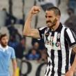 Bonucci, figlio malato. Striscione tifosi durante Lazio-Juventus