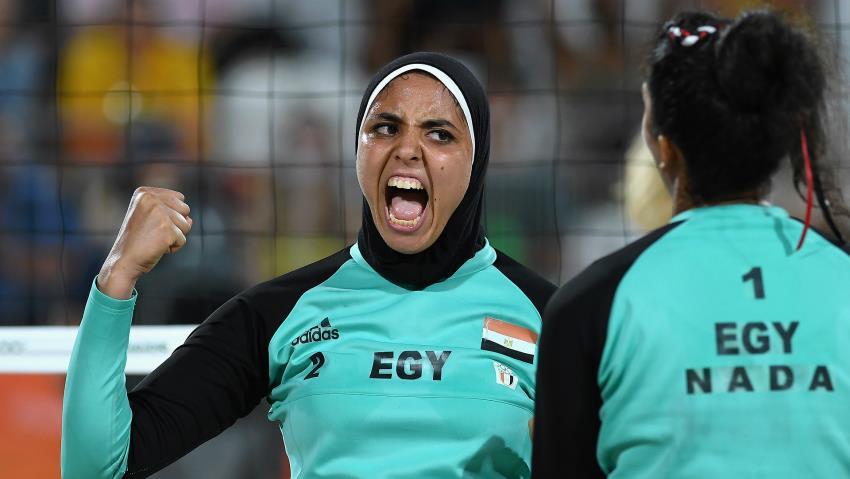 YOUTUBE Beach volley, Egitto-Germania: Doa El-ghobashy con hijab6