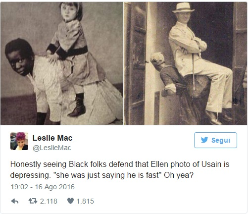 Rio 2016, Ellen DeGeneres accusata di razzismo per fotomontaggio con Bolt2