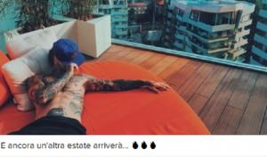 Guarda la versione ingrandita di Fedez, attico Libeskind alla CityLife di Milano (foto Instagram)