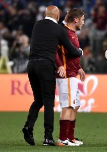 Guarda la versione ingrandita di Totti rientro vicino: solo contusione. Ruediger accelera tappe rientro