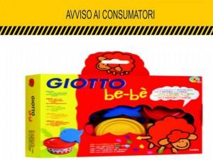 "Giotto Bebè ritirato: ""Rischio soffocamento"""